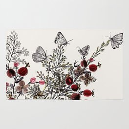 Watercolor floral background Rug