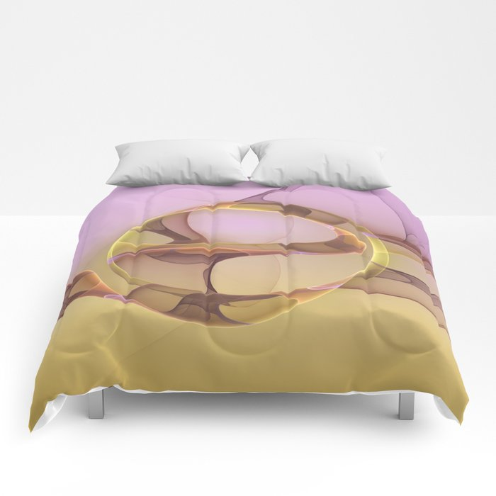 Abstract Motions, Modern Fractal Art Comforters