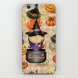 Pumpkins and Witch iPhone Skin