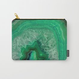 Green Emerald Agate Carry-All Pouch