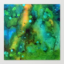Green Smoke Canvas Print