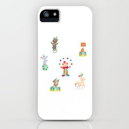 Circus Clown And Animals iPhone Case