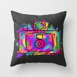 Colorful Camera Throw Pillow