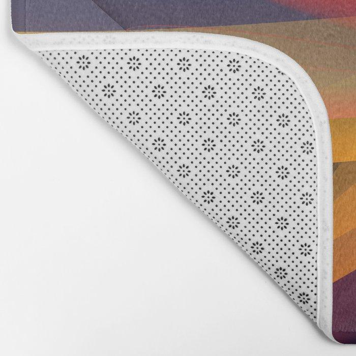 Transparent foldings, modern colourful abstract Bath Mat