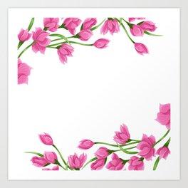 Roses crown Art Print