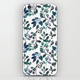 Jade and Succulent Watercolor Plant Pattern iPhone Skin