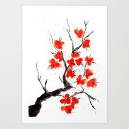 Orange Blossoms 2 Art Print
