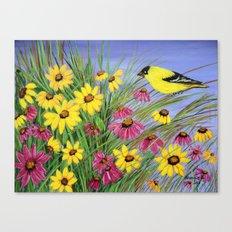 Bird in the garden  Canvas Print