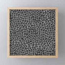Leopard Spots Pattern (gray) Framed Mini Art Print