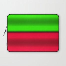 Green & Red Horizontal Stripes Laptop Sleeve
