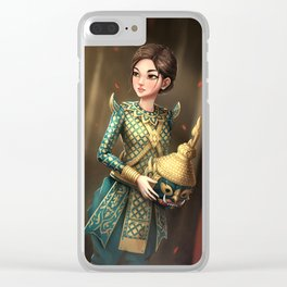 Khmer Masked Dance Clear iPhone Case