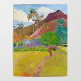 Tahitian Landscape by Paul Gauguin Poster