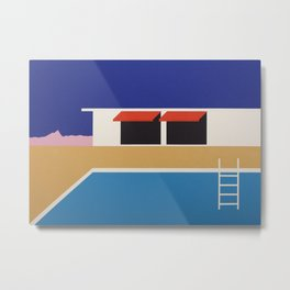 Palm Springs Pool House II Metal Print