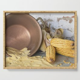 cob and pot with flour Serving Tray