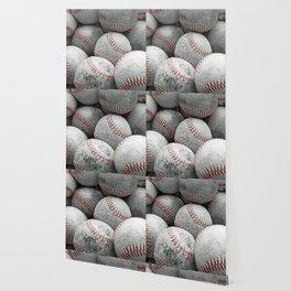 Vintage Baseballs Wallpaper