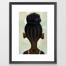 strong hair Framed Art Print