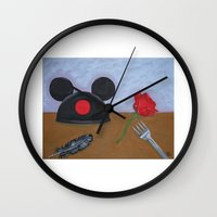 movies Wall Clocks featuring Disney Movies by Sierra Christy Art