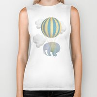 dumbo Biker Tanks featuring Escape From the Circus by Eric Fan