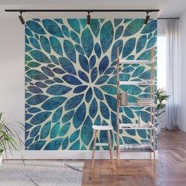 Petal Burst - Turquoise Wall Mural