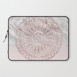 Rose gold mandala - blush pink & marble Laptop Sleeve