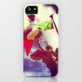 The angel and the flag iPhone Case
