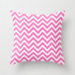 Creamy Pink and White Chevron Throw Pillow