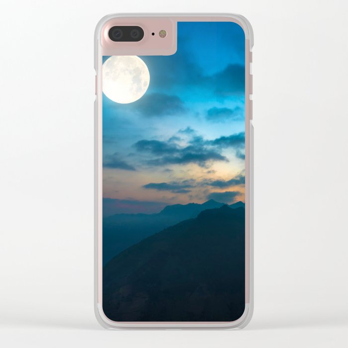 Super Moon Clear iPhone Case