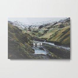 Seljavallalaug, Iceland Metal Print