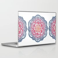 bedding Laptop & iPad Skins featuring Radiant Medallion Doodle by micklyn