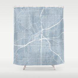 Fort Worth Map, USA - Slate Shower Curtain