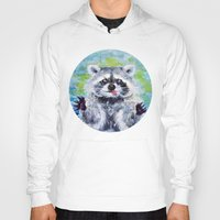 raccoon Hoodies featuring Raccoon by Alina Rubanenko