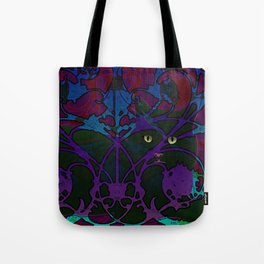 Art Nouveau Visible Cat Tote Bag