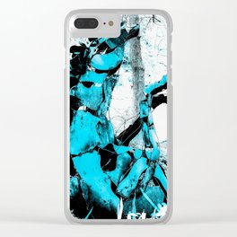 Cold Blue Horse Clear iPhone Case