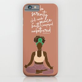 Brown Girl Serenity  iPhone Case