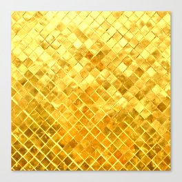 Give me Gold: festive, golden, fashionable, 3-d, glittery, Christmas, cheerful, lattice design Canvas Print