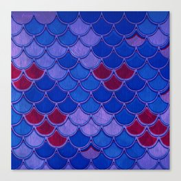 Colorful Dragon Scales Canvas Print