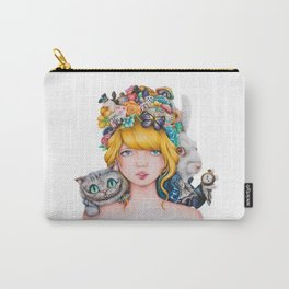 Alice in Wonderland Rendition Cartoonised Drawing Carry-All Pouch