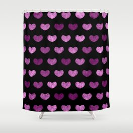 Colorful Cute Hearts VI Shower Curtain
