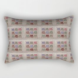 This Country House Patchwork Quilt Look Rectangular Pillow