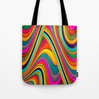 acid Tote Bags featuring Acid by Danny Ivan