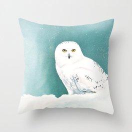 Arctic Eyes Throw Pillow