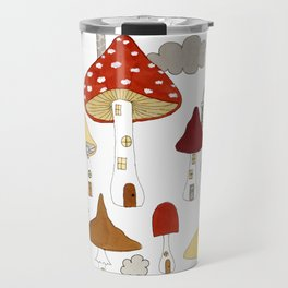 mushroom homes Travel Mug