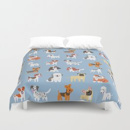 ENGLISH DOGS Duvet Cover