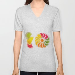 multicolored chewy gumdrops sweets Unisex V-Neck