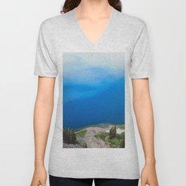 Crater Lake Cloud Reflection Unisex V-Neck