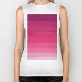 Lipstick: Shades of Pink Gradient Color Study Biker Tank
