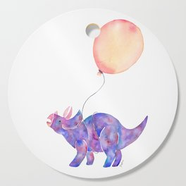 Tie-dye Triceratops Cutting Board