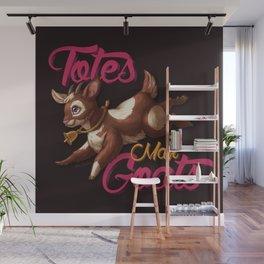 Totes Mah Goats (Dark Version) Wall Mural