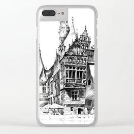Wroclaw City Hall Clear iPhone Case