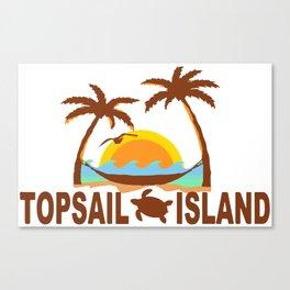 Topsail Island - North Carolina. Canvas Print